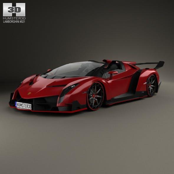 Lamborghini Veneno Roadster 2014 - 3DOcean Item for Sale
