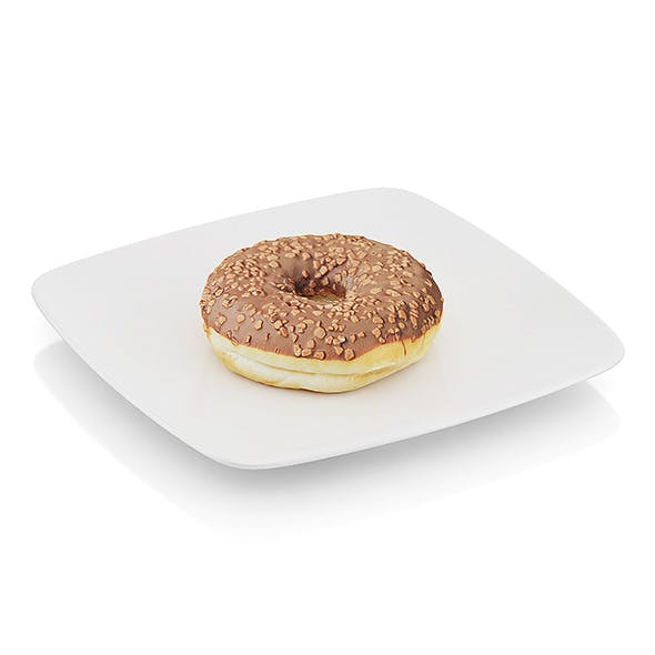 Donut with chocolate - 3DOcean Item for Sale
