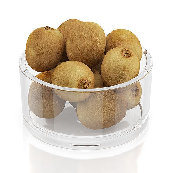 Kiwi fruits in glass bowl