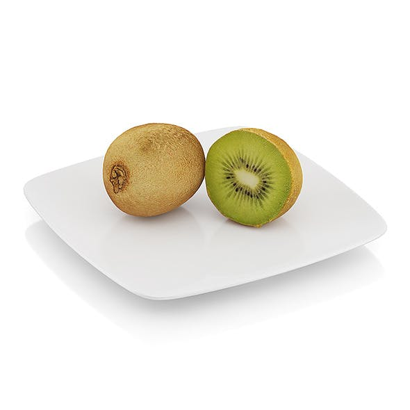 Halved kiwi fruit - 3DOcean Item for Sale