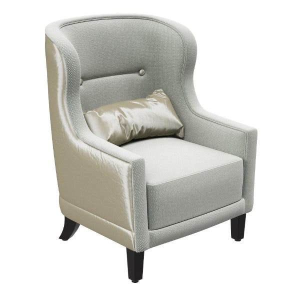 Classic armchair with pillow
