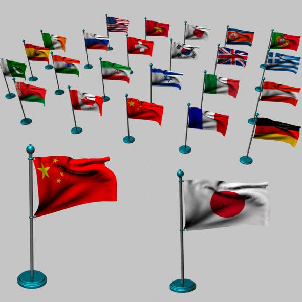 Realistic World Flags
