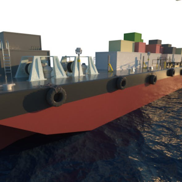 Deck Cargo Barge Vessel