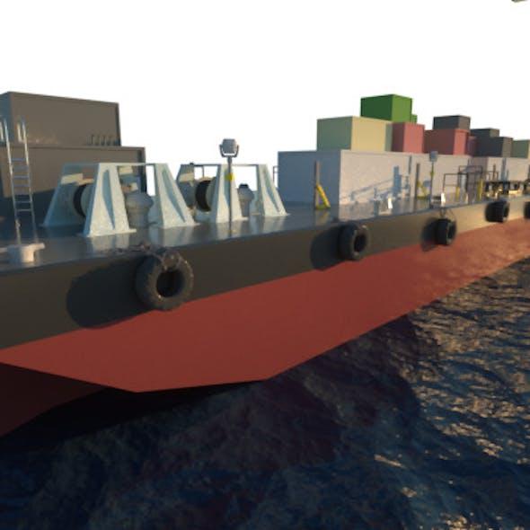 Deck Cargo Barge Vessel