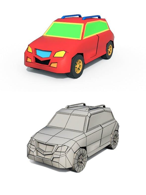 Low Poly Cartoon Car 1 - 3DOcean Item for Sale