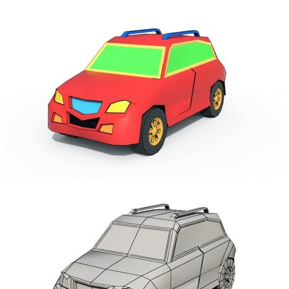 Low Poly Cartoon Car 1