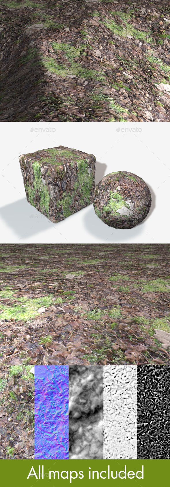 Seamless Forest Moss Texture - 3DOcean Item for Sale