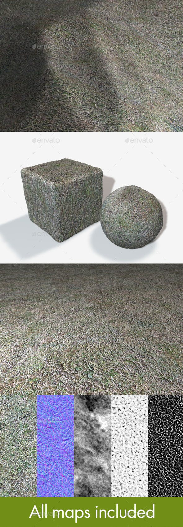 Seamless Frosty Grass Texture - 3DOcean Item for Sale