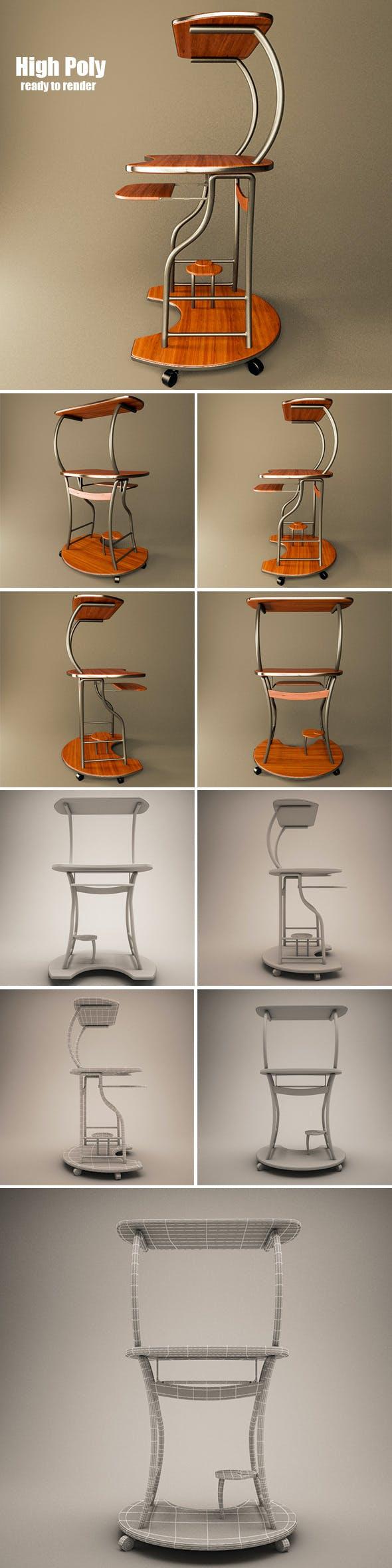 Desktop Computer Table - 3DOcean Item for Sale