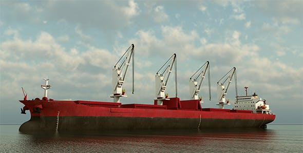 Cargo Ship Panamax  - 3DOcean Item for Sale