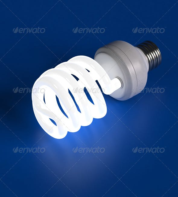 Compact Florescent Light Bulb - 3DOcean Item for Sale