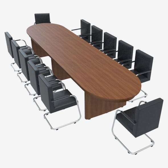 Conference Table With Chairs-1 - 3DOcean Item for Sale