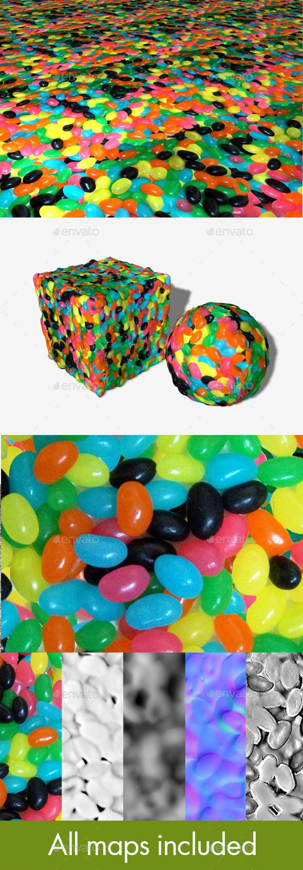 Seamless Jellybean Texture - 3DOcean Item for Sale