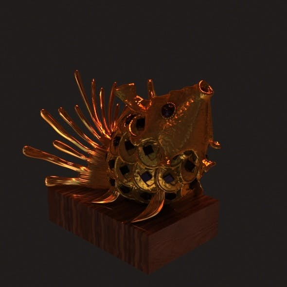 Golden Fish - 3DOcean Item for Sale