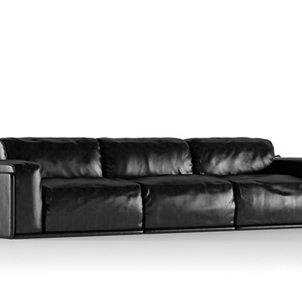 Photorealistics leather sofa. Alberta Newland