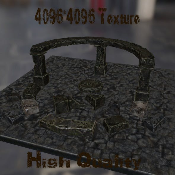 BrokenTemple - 3DOcean Item for Sale