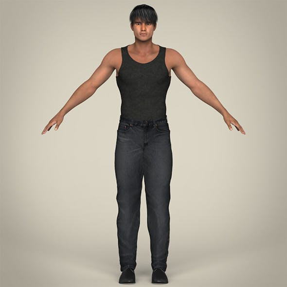 Realistic Muscular Handsome Guy - 3DOcean Item for Sale
