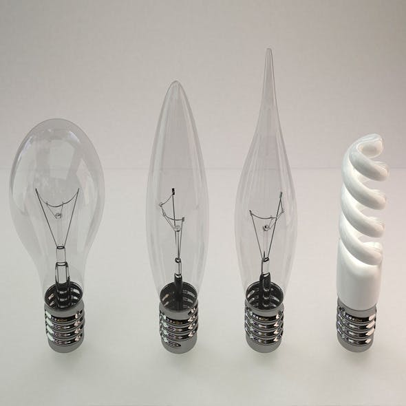 Realistic Light Bulb v-ray - 3DOcean Item for Sale