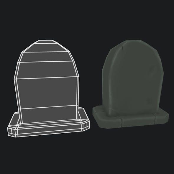 LowPoly handpainted Gravestone