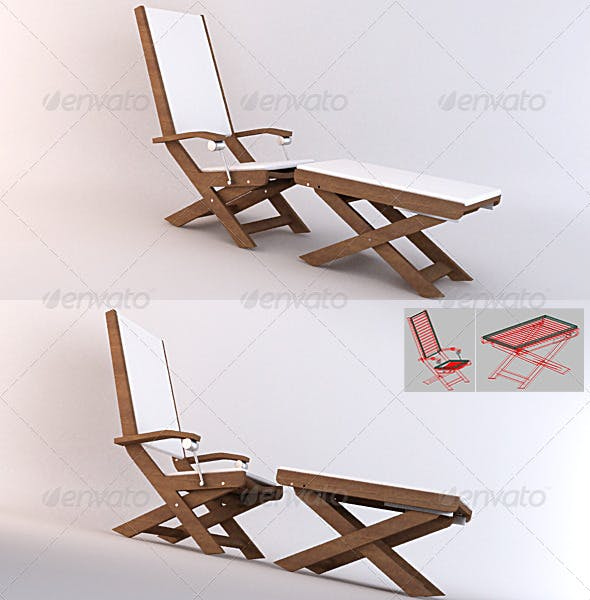 Garden 03 - Relax Chairs - 3DOcean Item for Sale