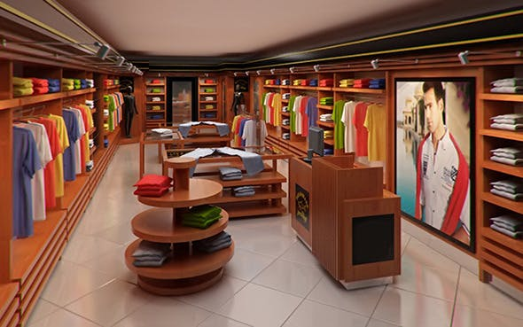 de7119801b53 Classic Clothing Store interior for Men and Women by VisualCG | 3DOcean