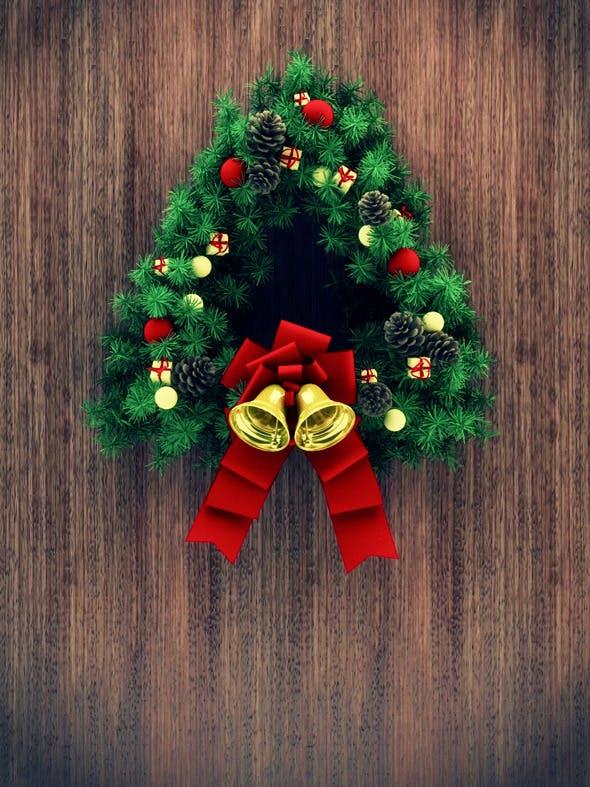 Christmas Door Decoration 02 - 3DOcean Item for Sale