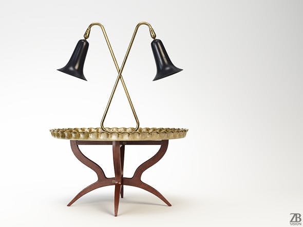 Moroccan Tray Table and Tulip Lamp - 3DOcean Item for Sale