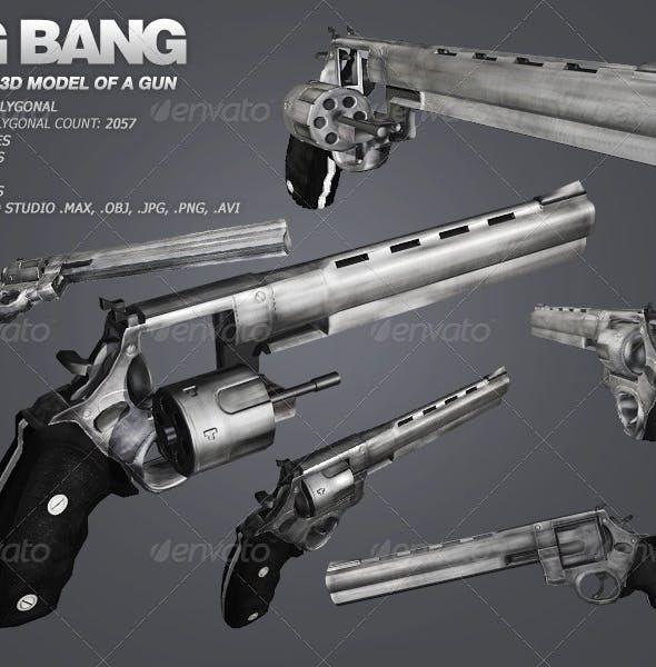 Big Bang - low poly model of a gun - 3DOcean Item for Sale