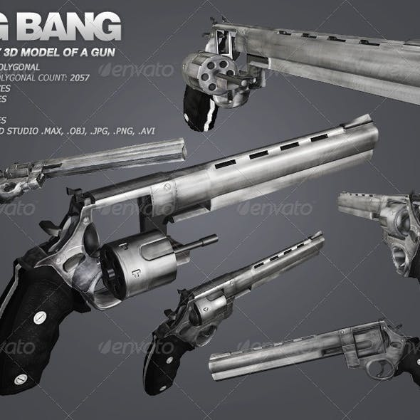Big Bang - low poly model of a gun
