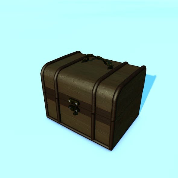 Animated Realistic Wooden Chest - 3DOcean Item for Sale