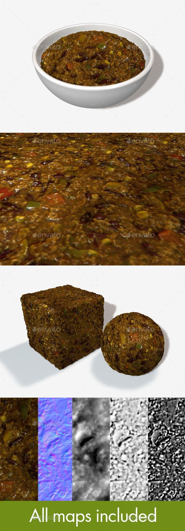 Chili Seamless Texture - 3DOcean Item for Sale