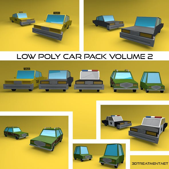 Low Poly Vehicles Volume 2