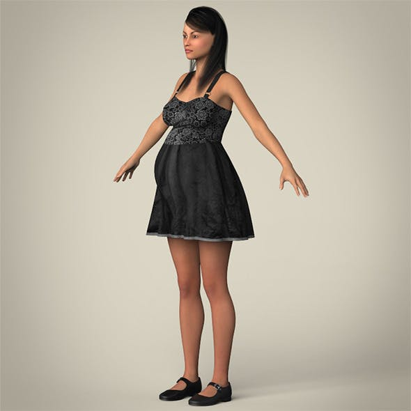 Realistic Pregnant Woman - 3DOcean Item for Sale