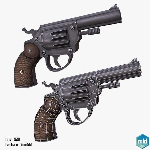 Low Poly Gun - 3DOcean Item for Sale