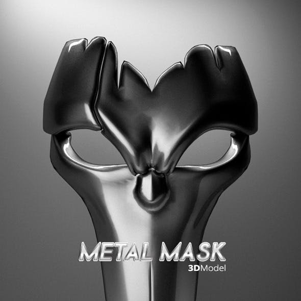 Metal Mask 3D Model