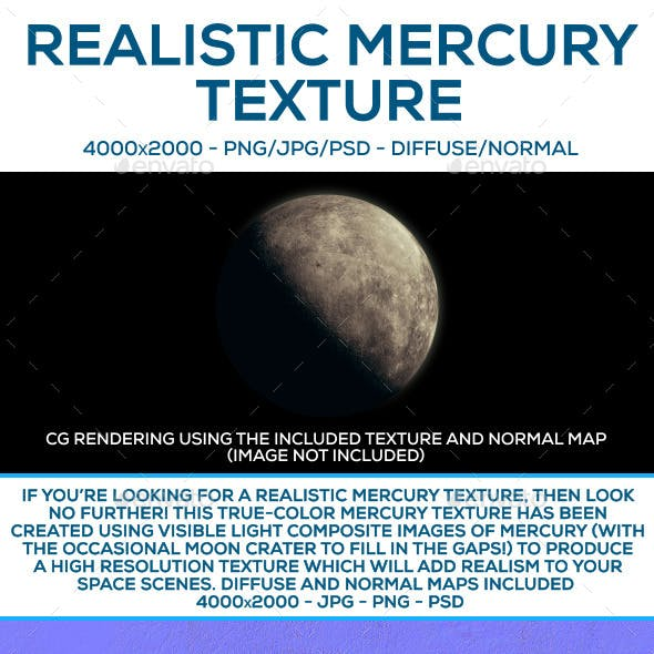 Mercury CG Textures & 3D Models from 3DOcean