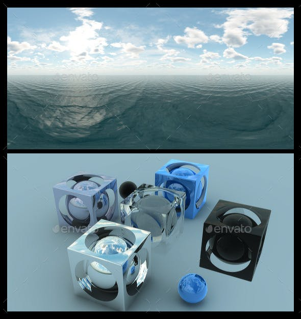 Ocean Blue Clouds - HDRI - 3DOcean Item for Sale