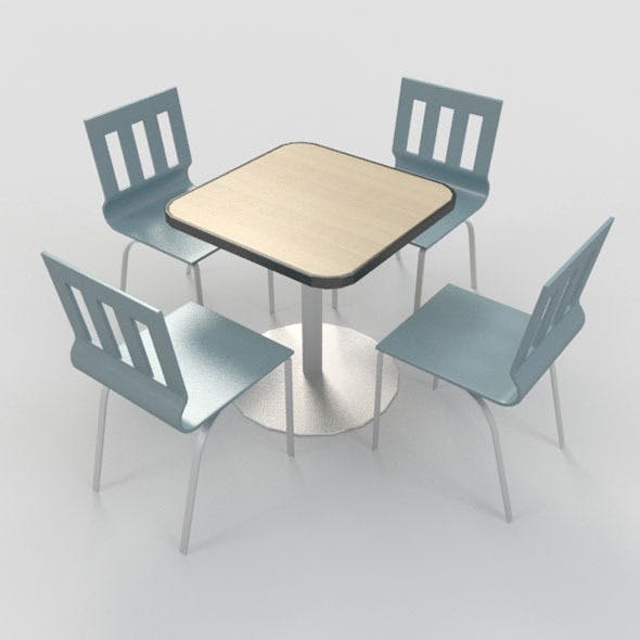 Coffee Table With Chairs-6 - 3DOcean Item for Sale