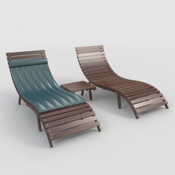 Sunbed-2 - 3DOcean Item for Sale