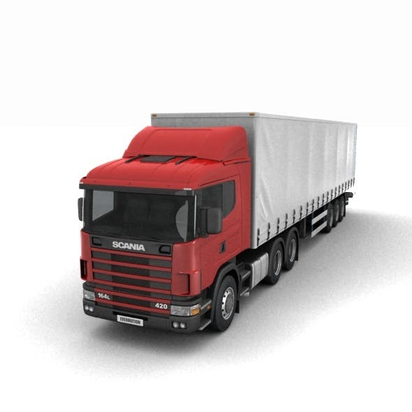 Scania R420 with trailer - 3DOcean Item for Sale