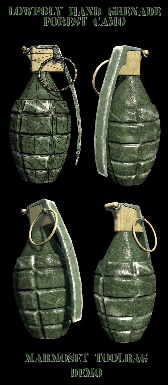 Lowpoly hand grenade - 3DOcean Item for Sale