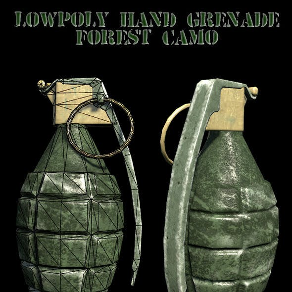 Lowpoly hand grenade
