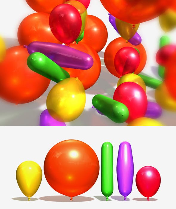 Balloons Party Pack - 3DOcean Item for Sale