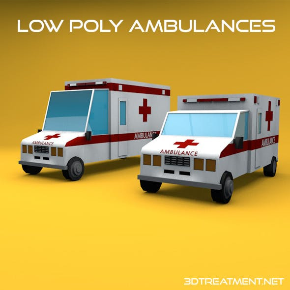 Low Poly Ambulances