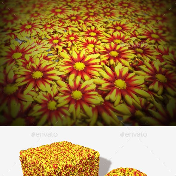 Yellow and Red Flowers Seamless Texture