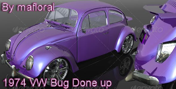 1974 VW Bug Done Up - 3DOcean Item for Sale