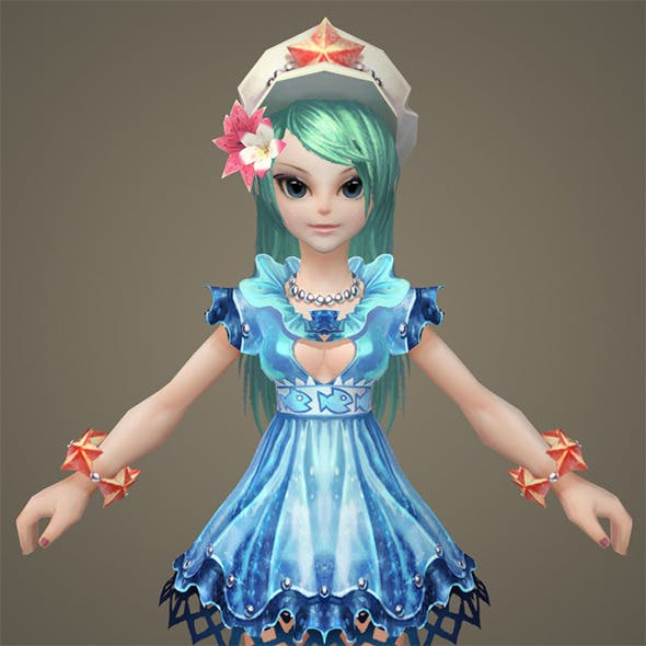 Toon character Keely - 3DOcean Item for Sale