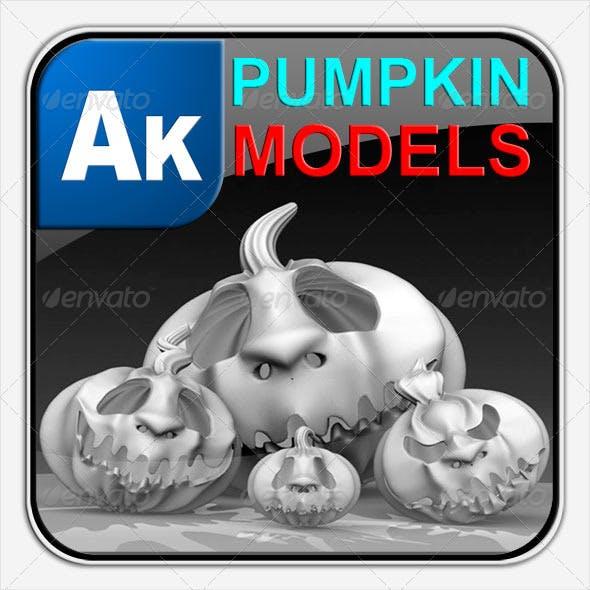 Halloween Pumpkins Models