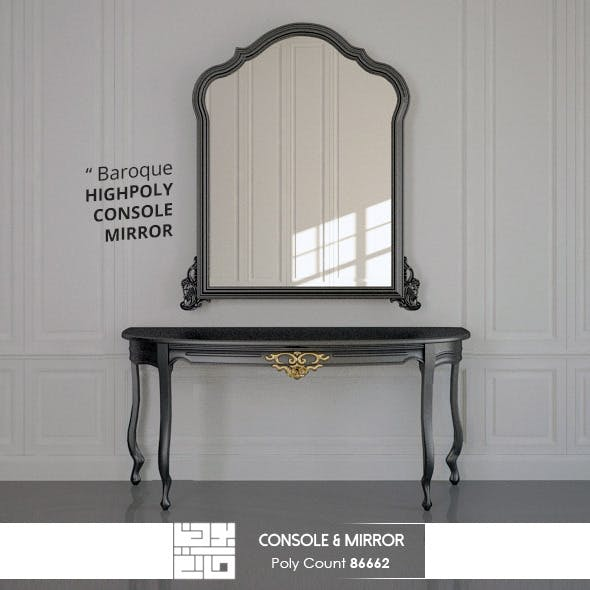 Console And Mirror Baroque 3D Model