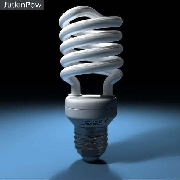 Photorealistic Compact Fluorescent Bulb